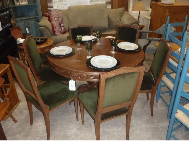 Ornate dining table and chairs home furniture garden