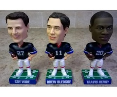 2004 LIMITED EDITION BUFFALO BILLS BOBBLEHEADS-SET OF 3-NEW
