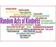 Simple Random Acts Of Kindness Ideas