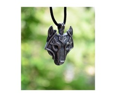 Crystal wolf necklace for women's - Up to 10% off