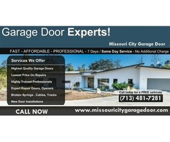 Garage Door Installation in Missouri City, TX