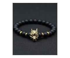 SHOP NOW - Wolf Head Bracelet | WORLDWIDE FREE SHIPPING
