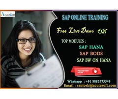 SAP BW on HANA Certification Training through Online| Acutesoft
