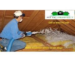 Attic home insulation san diego Call us 800-774-1740