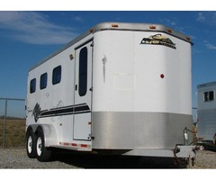 1999 Sundowner ValueLite 3 Horse All Aluminum Bumper Pull Horse Trailer