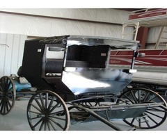 Newly Re-Furbished Black Buggy with or without Horse
