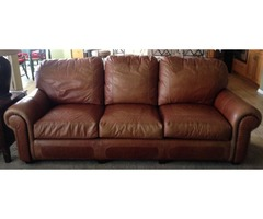 Bradford and Young 96 Inch Leather Sofa