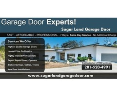 Top Garage Door Installation Company in Sugar Land, TX
