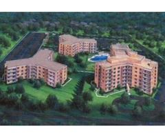 There are spacious patio and beautiful landscape grounds