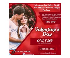 Valentines Day Offers FLAT 90% OFF on Website Design