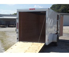 NEW ENCLOSED Trailer - 12' with V-Nose Front
