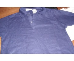 Youth Navy Pique Polo Shirts