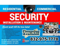 Professional installations of security cameras