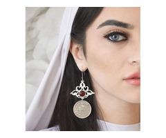ALANGOO- Persian Calligraphy Earring & Calligraphy Necklace