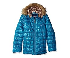 New with tags Limited Too girl's coat size 3T teal iridescent puffer