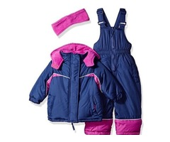 New with tags girls size 4 color block 3 pc snowsuit cheap