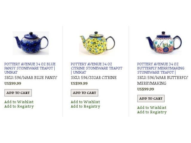 Shop For Stylish Polish Stoneware Teapot		 | free-classifieds-usa.com
