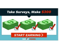 Take surveys and get paid at Survey Voices!
