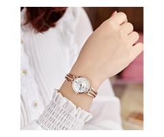 Women Luxury Brand Stainless Steel Bracelet Watches Ladies