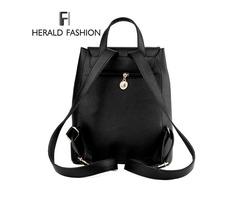 Women Backpack High Quality PU Leather Mochila Escolar School Bags