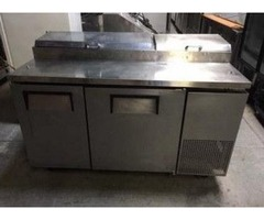 TPP60 TRUE 2 DOOR REFRIGERATED PIZZA PREP TABLE 3917