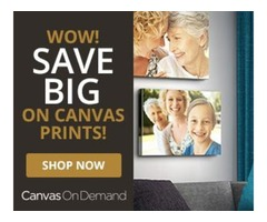 Canvas on demand save big on canvas products