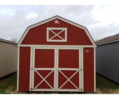 Cook Portable Warehouses 12x16 Lofted Barn - PREOWNED