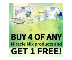 Buy 4 of any Miracle Mix dental products and get 1 FREE of the same