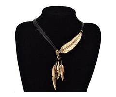 Shop Online Black Rope Feather Necklace-UPTO 30% OFF | Boutique Delight