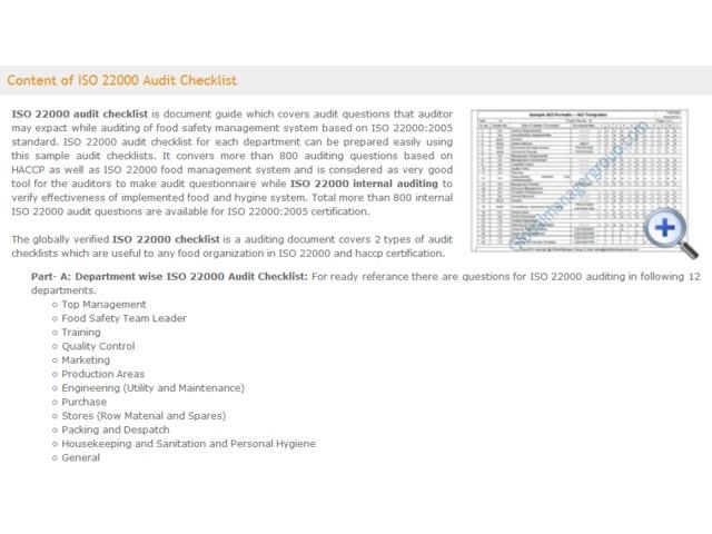 ISO22000AuditChecklistDocument