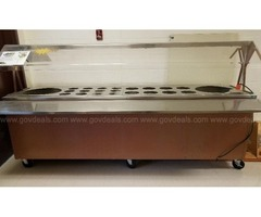 Duke Manufacturing stainless steel refrigerated salad bar