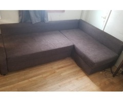 Couch, with a built in storage area