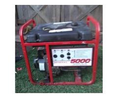 genrac 5000 watt power plus generator