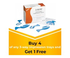 Buy 4 of any 3-way impression trays and get 1 FREE