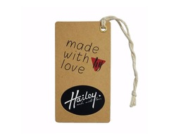 Create your custom hang tags printing for clothing