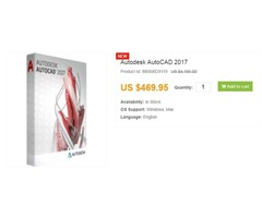 Best buy discounted and cheap Autodesk AutoCAD 2017 | Buy AutoCAD 2017