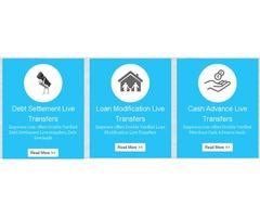 Reverse Mortgage Live Transfers, Debt Settlement Live Leads