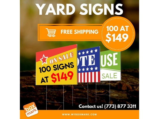 blank yard signs free shipping - Printing Services - Illinois City