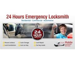 Save 24 hour lock & key! Licensed car locksmith service Call today
