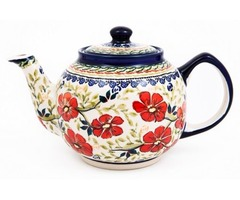 Buy Stylish Hand Painted Stoneware Teapot