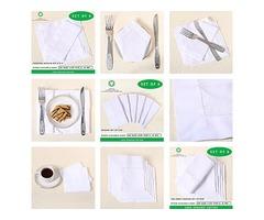 Kitchen towel | Florida |White cotton napkins | All Cotton and Linen