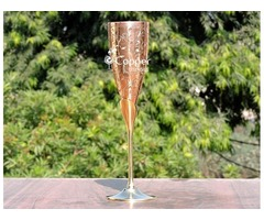 Shop for our Intricately Designed Brass Champagne Glass with Copper Lining