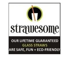 Reusable Pastel Smoothie Glass Straw Trio