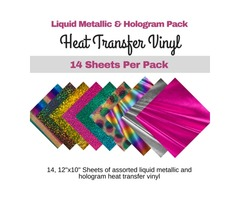 This Liquid Metallic and Hologram pack comes with 14 12x10