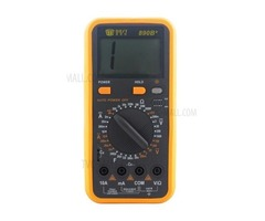 BEST BST-890B+ LCD Digital Multimeter AC/DC Tester Measure Device - Black + Orange