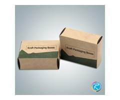 Get Custom Printing Services for Kraft packaging Boxes at 20% off rates by RegaloPrint