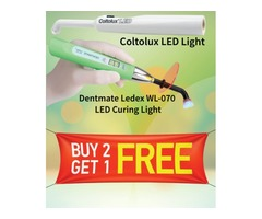 Buy 2 Get 1 FREE offer on Dental Curing Lights