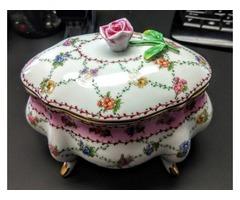 Mother's Day Rose Ceramic Trinket Box