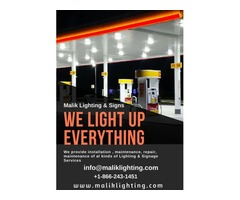 Install Lighting & Signage services| Repair | maintenance | Malik Lighting & Signs