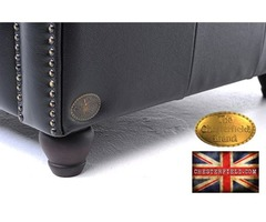 The Original Chesterfield Brand armchair-Black leather -Handmade  | free-classifieds-usa.com
